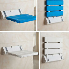 Folding Wall Mounted Shower Aid Chair Seat Stool Bathroom Spa Bench Chair Bench