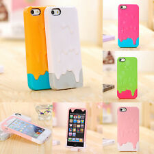Back Case Cover Hard For Apple iPhone 4S 5S Protector Snap On 3D Melt Ice Cream