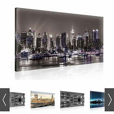 CITY NEW YORK PARIS LONDON CANVAS PRINT WALL ART XXL - 8 DESIGNS! (CT1WS)