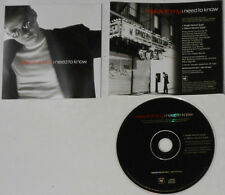 Marc Anthony - I Need To Know (Single & LP Versions) -  1999 Promo CD Single