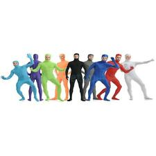 Unisex Open Face Tight Skin Lycra Spandex Full Body Zentai Suit Back Zip Catsuit
