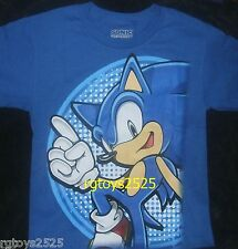 Sonic the Hedgehog t-shirt Size  M L XL New Childs Blue 12 14 16 18 20