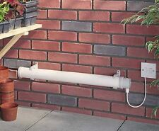 Tubular Heater for Shed Greenhouse Garage Thermostate 1ft , 2ft , 3ft , 4ft Size