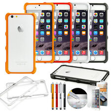"For iPhone 6 / 6S 4.7"" TPU Rubber Ultra Thin Bumper Case Frame Hard Cover Film"