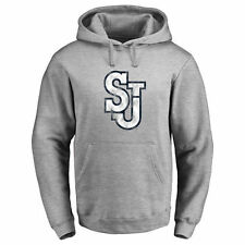 Men's Ash St. Johns Red Storm Classic Primary Logo Pullover Hoodie - College