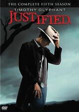 Justified Season 5 (DVD 2014) Crime Drama Television Action Adventure Mystery FX