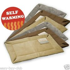 Pet Crate Mat Self Warming Pad Thermal Cat Dog Bed Kitten Puppy Beige 6 sizes