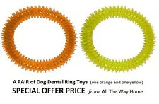 Pet Dog Rubber Dental Play Ring Canine Oral Health Fetch Chew Toy Puppy