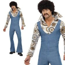 Groovy Dancer Costume Mens Disco Dancing 1970s Fancy Dress Outfit M,L