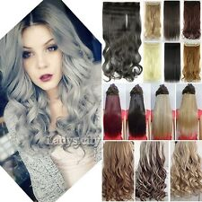 Real Thick Great A+ Clip In Hair Extensions Half Full Head Brown Blonde Hair F5x