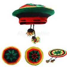 Rasta Hat Beanie Reggae Bob Marley Jamaica Cap Knitted Fancy Dress Headwear Prop