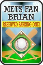 Baseball Parking Sign Customized With Your Name and Personalized Message C1350