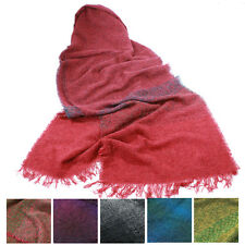 """Long Scarf Stole 84"""" Soft Lambswool Blend Made in Ireland"""