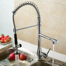 Pull Out Shower Dual Functions Kitchen Sink Mixer Taps Single Handle Swiveling