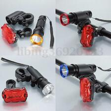 2000LM Q5 LED Cycling Bicycle Bike Front AAA Flashlight Torch Tail Light Holder