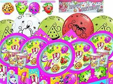 Shopkins Birthday Party Tableware Supplies Decorations Plates Cups Napkins