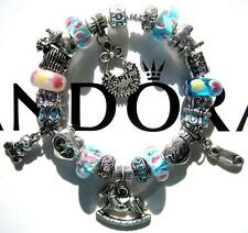 Authentic PANDORA 925 Sterling Silver Bracelet BABY PUSH Murano Beads Charm AA30