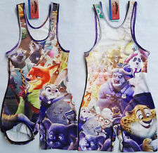 Youth Zootopia Man Cartoon Wrestling Singlet Wrestling Outfit Trunk body Build