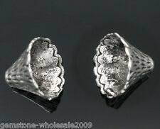 Wholesale Lots Silver Tone Cone Caps Findings Fit 12mm-22mm Beads