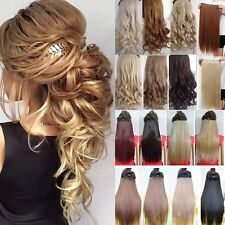 Long Natural Clip in 3/4 Full Head Clip in Hair Extensions Extentions Human FI6