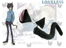 Loveless Anime white Black cat ears and tail toy cosplay accessory For Halloween