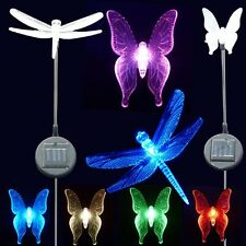2x Solar Garden Stake Lights- Bee, Dragonfly, Lily Flower, Angel