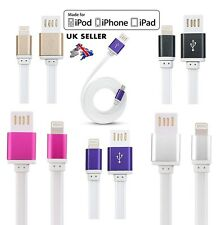 Strong Flat USB Data Sync Charger Cable Lead for iPhone 6 5 5S 5C 6S 6+ IPad Air