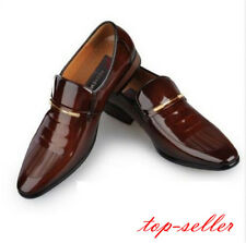 New Size Mens Patent Leather Business pointed Toe slip on Dress Formal Shoes