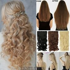 Thick Deluxe One Pcs Clip In Hair Extensions Brown Blonde Natural Hairpiece Tnt