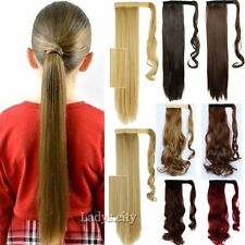 Us Sexy Wrap On Ponytail Clip in Hair Extensions Pony Tail Long short hair Tnt