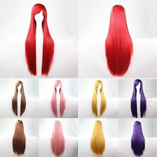 Women' Wig Long Straight Anime Cosplay Costume Party Synthetic Hair  + Hairnet