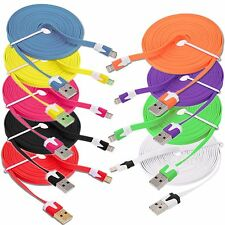 STRONG FLAT USB DATA SYNC CHARGER CABLE LEAD for iPhone 6 5 5S 5C iPad 6 Plus