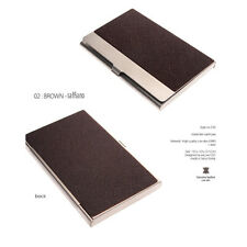 Business Card Holder Personalized Cowhide Metal Skin Card Case excuve CX5 Brown