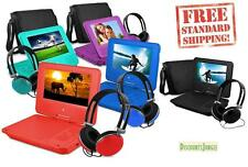 "7"" Portable Personal DVD Player w/Headphones &Carry Case Kid Adult Ematic EPD707"