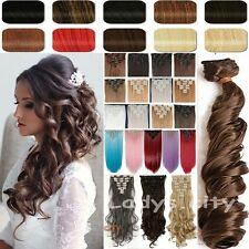 Long As Remy Full Head Clip In Hair Extensions 18 Clip Real Thick As Human W7F