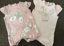 Set Of 2 Baby Girls Romper Suits, Age Up To 3 Months, Next