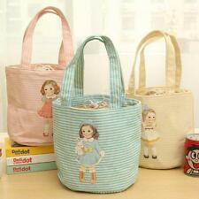 Portable Cute Doll Lunch Box Insulated Thermal Picnic Bag Cooler Carry Case Tote