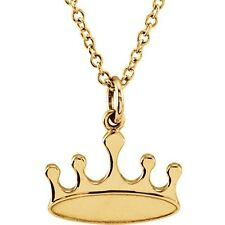 Posh® Petite CROWN Necklace 14kt Rose, Yellow, White Gold, Sterling & Vermeil