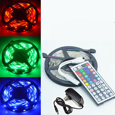 5M SMD 5050 RGB 150LED Non-Waterproof Light Strip +mini 44Key IR +12V 2A Adapter