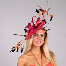 FASCINATOR, DESIGNER - INSTANTLY FABULOUS -SPECTACULAR FAN OF FEATHERS - H1184