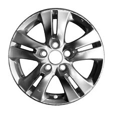 OEM Reman 16x6.5 Alloy Wheel, Rim Sparkle Silver Full Face Painted - 63935