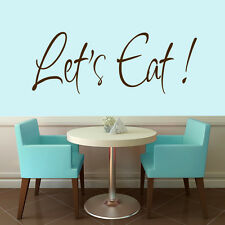 Let's Eat Wall Decal - 48 Inches Wide x 18 Inches Tall