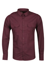 Mens Long Sleeved Shirt Brave Soul 'Hesse' Cotton Collared Casual Shirt L-XXL