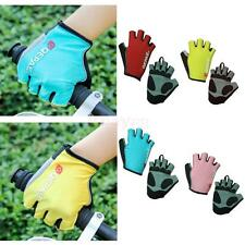 Outdoor Sport MTB Bike Bicycle Riding Cycling Reflective Short Fingerless Gloves