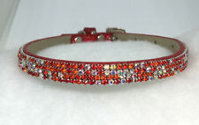 Sugarlicious Pets ™ ~Ruby Red Confetti~ Crystal Rhinestone Dog Cat Safety Collar
