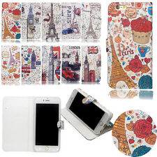 Cute Bling Diamond Flip PU Leather Card Wallet Stand Case For iphone Samsung