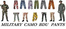 Military BDU Camouflage Digital Army Cargo Fatige Pants Uniform Tactical Trouser