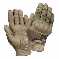 MultiCam Military Hard Knuckle Tactical Army Gloves Flame Heat and Cut Resistant