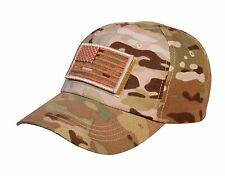 MultiCam Special Forces Operator Cap Adjustable Hat With Multicam Flag Patch