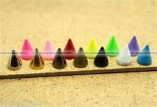 7x10mm Leathercraft DIYAlloy Bullet Spikes Studs Rivets Cone Screwback Spots S8